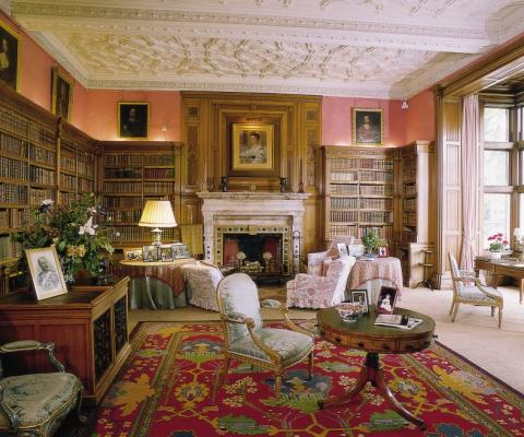 Holker Hall library